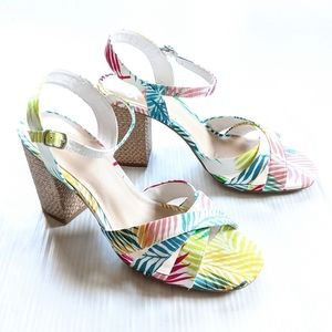 FERGALICIOUS Fiance Aloha Tropical Heeled Sandals